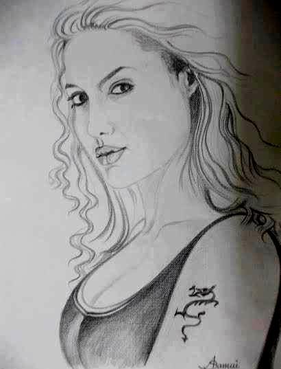 Angelina Jolie by abhik